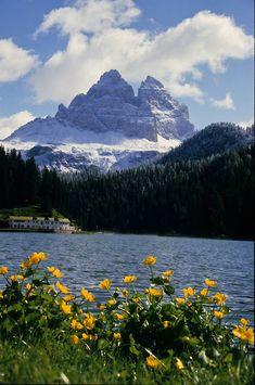 Lake Misurina, Dolomites, province of Belluno Veneto, Italy