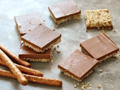 Get No-Bake Chocolate-Pretzel-Peanut Butter Squares Recipe from Food Network