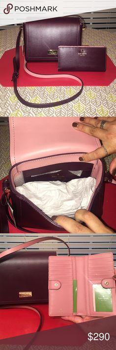 New Maroon Kate Spade Crossbody Brand New Maroon Kate Spade Crossbody with Matching Maroon Wallet kate spade Bags Crossbody Bags
