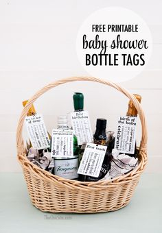 Free Printable ~ baby shower gift tags for new parents. Celebrate the milestones in baby's life with a bottle for each occasion.