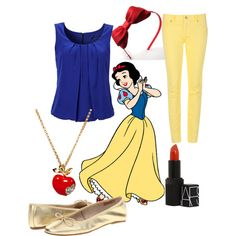 "Minus the red lipstick for me, I can't pull that off! ""Snow White"" by jboothyy on Polyvore"