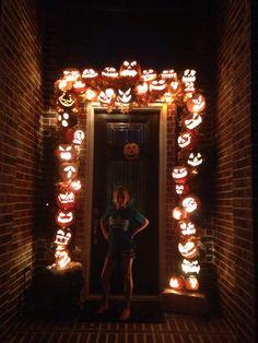 Halloween Door decoration night view