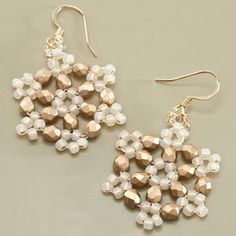 Christmas Gifts: Earrings, Beaded Snowflakes