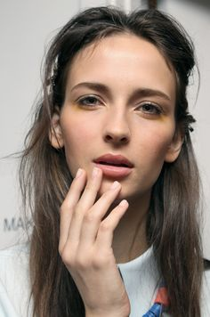 Nude nails are having a major moment. See more of the New York Fashion Week trend on wmag.com.