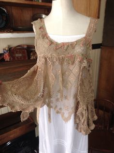 Luv Lucy Crop top boho gypsy style by LuvLucyArtToWear on Etsy