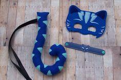 Catboy Costume Fleece Tail Felt Mask Activation Bracelet Halloween Dress Up…