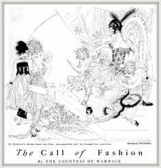 1915 'The Call Of Fashion', by the Countess, drawing by Nell Brinkley for Harper's Bazaar