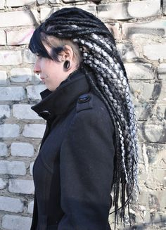 This is badass. I love the look. The shaved part on her head is a nice touch.