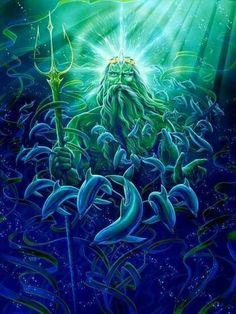 Poseidon Greek God of the water and Seas.
