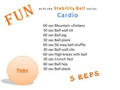 Fun with the Stability ball series Cardio