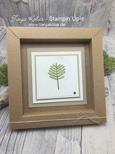 Bebilderte Anleitung für einen Bilderrahmen aus Papier – Kreativ mit Tanja – Workshops und Shop für Stempel, Stanzen, Papier