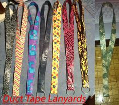 Simple Duct Tape Crafts   Duct Tape Lanyards by *GuardianKrayla on deviantART Please follow us @ http://www.pinterest.com/ducktapesale/