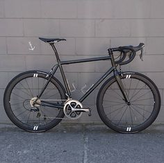 Black on black Gunnar Roadie for @gunnarbikesaus. DA, Curve G4's, Thomson bar, post & stem.