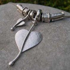 Handmade Jewellery,- heart necklace  http://www.silverandstone.co.uk/html/heart__necklace.html