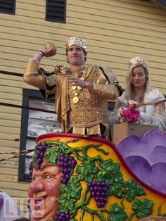 Drew Brees Qb For Saints In Parade Mardi Gras Fat Tuesday