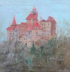 """Bran""-Romania. Oil on canvas Size 60*60cm."