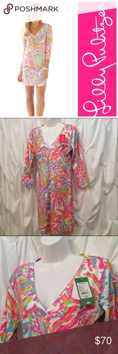 NWT Lilly Pulitzer Christie Dress Cuba to Scuba NWT Cuba to Scuba Size S Pet and smoke free closet.  Be sure to like and follow PINK HIVE for really great quality listings  good prices.  Visit often, new listings weekly. Lilly Pulitzer Dresses Mini