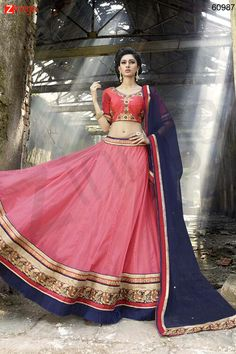 Women's Pretty Circular Lehenga Style in Pink Color. Message/call/WhatsApp at +91-9246261661 or Visit www.zinnga.com