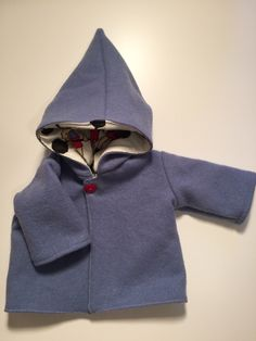 Hooded Wool Coat, Originals, Hoods, Fabric, Sweaters, Etsy, Dresses, Fashion, Tejido