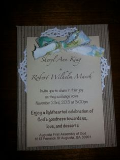 Wedding invitation handmade