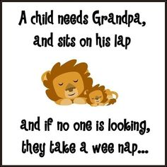 Papa and every grandchild have snuggled together to take a nap in his recliner.and it is the sweetest thing! Makes me really love Larry! Grandchildren, Grandkids, Sitting On His Lap, Grandma Quotes, Cousin Quotes, Daughter Quotes, Father Daughter, Grandma And Grandpa, Grandparents Day