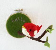 hello summer embroidery hoop wall art
