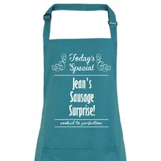 Todays Special Personalised Apron by TheOccasionalGenius on Etsy