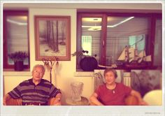 my grandparents aug 2012, they raised me during the first years of my life