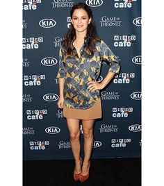 WHO: Rachel Bilson  WHAT: Attending Comic-Con's Wired Café while promoting her new movie, The To Do List.  WEAR: Marc Jacobs Disco Panther Print Silk Shirt ($750) and camel skirt from the F/W 13 collection; Casadei shoes.  Styled by Nicole Chavez.
