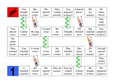 Or print each one and have a passe compose hopscotch.