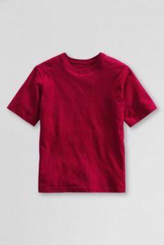 School Uniform Essential T-shirt from Lands' End Pe Uniform, School Uniform, Boys Shirts, T Shirts For Women, Lands End, Big Kids, Graphic Tees, Essentials, Mens Tops