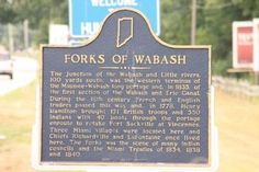 The junction of the Wabash and Little rivers, 100 yards south, was the western terminus of the Maumee-Wabash long portage and, in 1835, of the first section of the Wabash and Erie Canal. ...Three Miami villages were located here and Chiefs Richardville and LaFontaine once lived here. The Forks was the scene of many Indian councils and the Miami Treaties of 1834, 1838 and 1840.