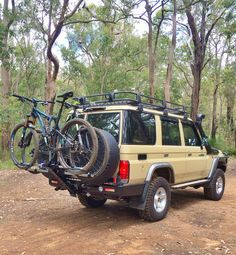 Toyota iSi Advanced Bicycle Carrier and Bike Rack Systems – Land Cruiser 76 Series Wagon ランクル Suv Bike Rack, Best Bike Rack, Bike Carriers For Cars, Carros Suzuki, New Electric Bike, Toyota Land Cruiser 100, Accessoires 4x4, Land Cruiser 70 Series, Toyota Lc