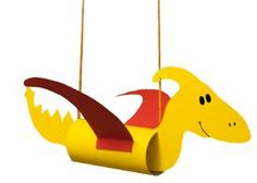 Flugdinosaurier basteln