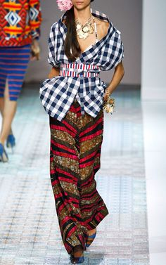 I like the checker top. Stella Jean Spring/Summer 2014 Trunkshow Look 21 on Moda Operandi
