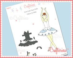 Swan Lake Paper Doll PDF by Crafterina  Paper Craft  by Crafterina, $3.50  www.Crafterina.Etsy.com
