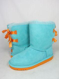 NEW KIDS GIRLS WOMEN BOOT UGG AUSTRALIA BAILEY BOW BLUE CURACAO MARIGOLD 3280Y K #UGGAustralia #Boots