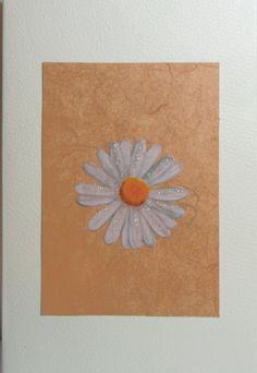 Found this very small piece of background (the last of what was once 12 X 12), and just added a daisy - beautiful...