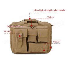 Outdoor Sport Laptop Camera Mochila Men Messenger Bag Travel Tactical Multifunct - US$51.34