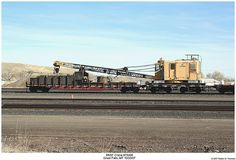 BNSF Crane 975406 (Robert W. Work Train, Railroad History, Snow Plow, Car Tools, Rolling Stock, World Best Photos, Model Trains, View Image, Montana