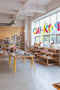 Poketo has become a mainstay of the neighborhood and the local go-to gift store in their large, raw, colorful space. #RetailDesign #California