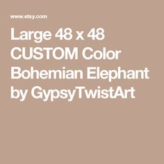 Large 48 x 48 CUSTOM Color Bohemian Elephant by GypsyTwistArt