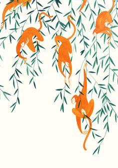 The Jungle Books Jessica Meyrick Jungle Illustration, Pattern Illustration, Graphic Illustration, Abstract Sculpture, Sculpture Art, Metal Sculptures, Bronze Sculpture, Wall Paper Iphone, Inspiration Artistique