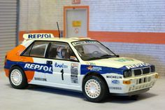 Scalextric Tecnitoys 6157. Lancia Delta Integrale. Rally Montecarlo 1993. Carlos Sainz-Luis Moya. #slotcar
