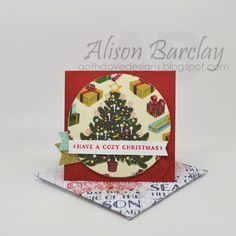 Gothdove Designs - Alison Barclay - Stampin' Up! Australia - Stampin' Up! Home for Christmas Designer Series Paper #stampinup #christmas #gothdovedesigns #card