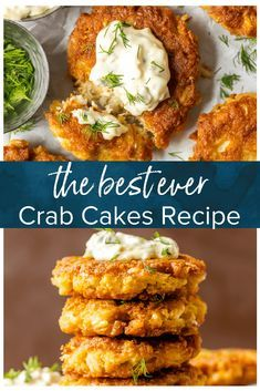 Baltimore Crab Cakes The BEST CRAB CAKE RECIPE is right here in front of you! I loooove fresh, crispy crab cakes, and these Baltimore Crab Cakes are really hitting the spot. This crab cake recipe is my ideal seafood dinner, and once we add on the homemade Crab Cakes Recipe Best, Homemade Crab Cakes, Crab Cake Recipes, Sauce Recipes, Fish Recipes, Cooking Recipes, Canned Crab Cakes Recipe, Canned Crab Recipes, Healthy Seafood Recipes