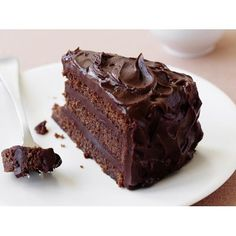 Chocolate buttermilk cake recipe - By Australian Women's Weekly, Three layers of cake sandwiched together with heavenly chocolate frosting; the buttermilk helps make this cake both rich and light.