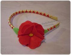 Giselle Barbosa Artesanatos: Tiara de fita de cetim XII
