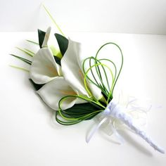 Calla Lilies Bear Grass Lily Grass White Bouquets For The