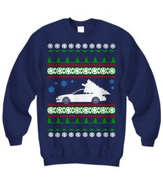 Acura Integra Ugly Christmas Sweater Shirt Navy